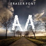 Handwriting typography Eraser