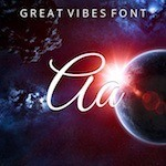 typography Great Vibes