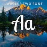 typography Lobster Two