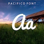 typography Pacifico