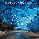 typography Quicksand