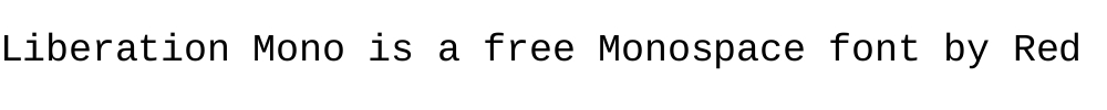 Liberation Mono is a free monospace font by Red Hat