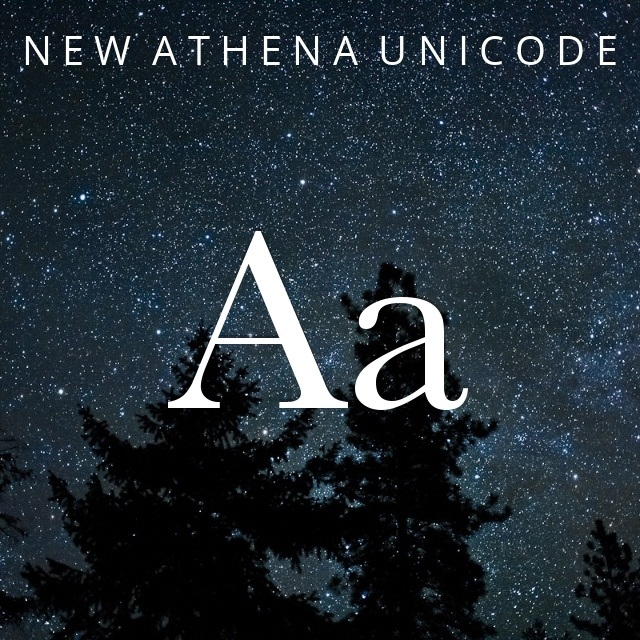 New Athena Unicode