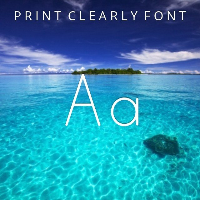 Print Clearly
