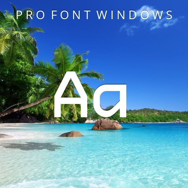 Pro Font Windows