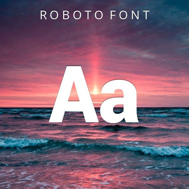 roboto font  for windows