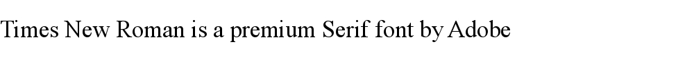 Times New Roman is a premium serif font by Adobe