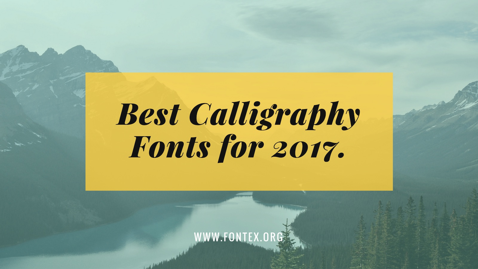 Calligraphy Fonts 2017
